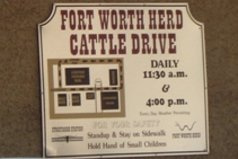 cattle drive signT